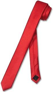 Narrow NeckTie Extra Skinny RED Color Men's Thin 1.5
