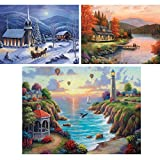 Spilsbury - Exclusive 3 Puzzle Set - Three 500 Piece Premium Jigsaw Puzzle for Adults by Artist John Zaccheo - Spilsbury Puzzle Company Premium Collection