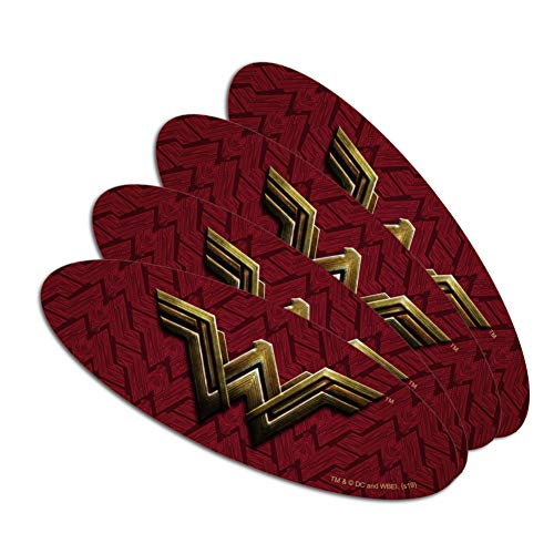 Justice League Movie Wonder Woman Logo Double-Sided Oval Nail File Emery Board Set 4 Pack