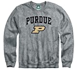 Ivysport Purdue University Boilermakers Crewneck Sweatshirt, Heritage, Charcoal Grey, Medium