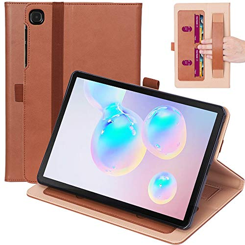 youanshanghang Protective case for Galaxy Tab S6 Lite P610 / P615 Retro Texture PU + TPU Horizontal Flip Leather Case with Holder & Card Slots & Hand Strap, Simple and Practical (Color : Brown)