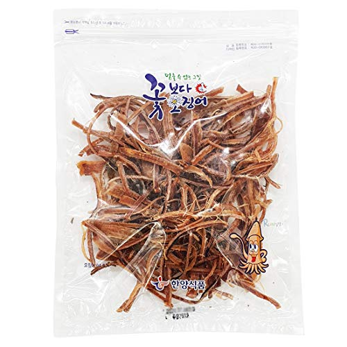 Korea Seasoned Dried Squid Snack Squid Over Flower 260g 9.1oz 꽃보다 오징어