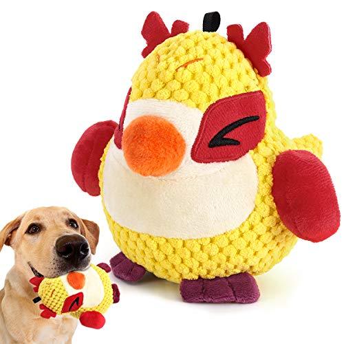 Pawaboo Plüsch Hundespielzeug, Langlebig Ungiftig Hundekauspielzeug Quietschspielzeug mit Quietschen für Kleine und Mittlere Hunde Saubere Zähne - Vogel