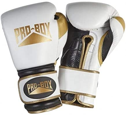 Pro Box Special Edition 'Pro Spar' Leather Boxing Gloves - Weiß Gold B07HK9G1KG       Geeignet für Farbe