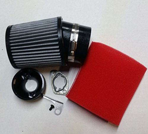 HDM GX160 GX200 Clone Honda 6.5HP Go Kart Racing Air Filter With Adapter kit & Foam Prefilter