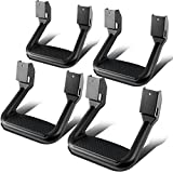 4 Pcs of Aluminum Side Assist Step Replacement for Pickups & Trucks (Black)