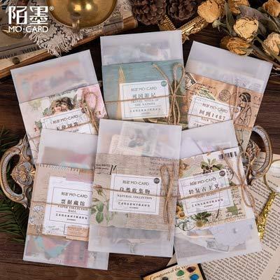 Retro Floriographie Bullet Journal dekorative Aufkleber Kleber DIY Dekoration Tagebuch Pflanzen Magazin Label Aufkleber27 Stück/Packung