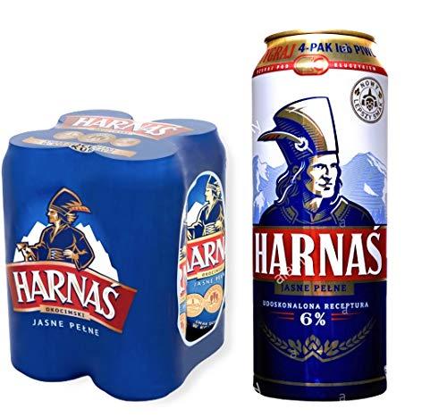 12 x 500 ml Dose Harnas Pils, polnisches Bier mit Bergwasser gebraut, Piwo