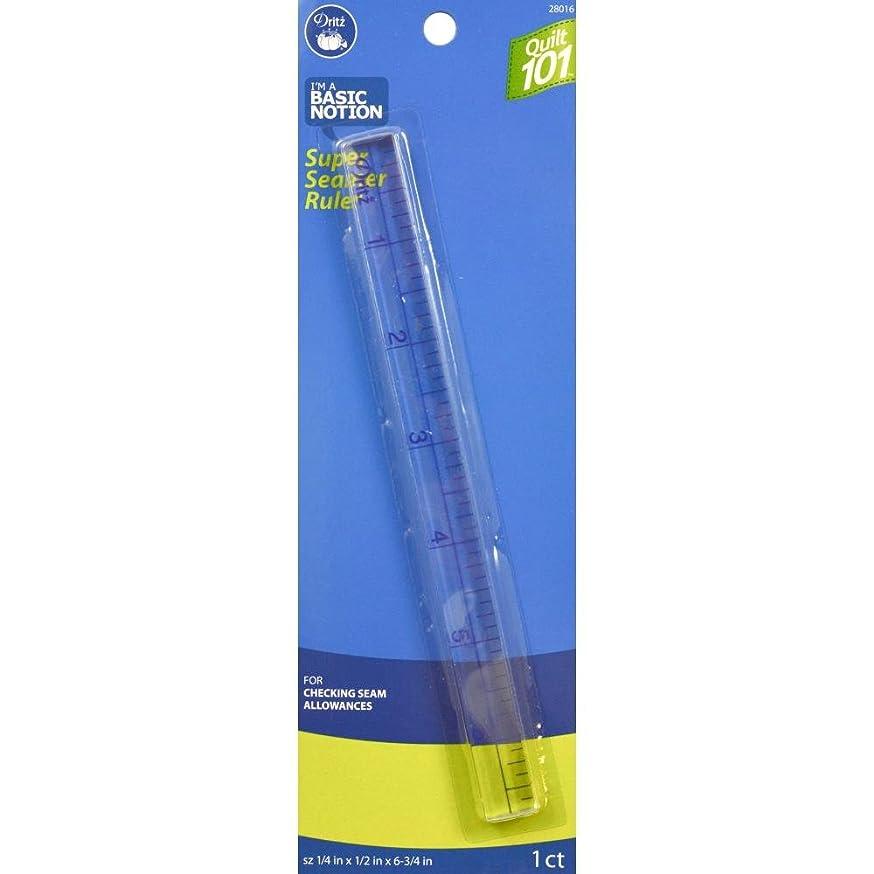 Dritz Quilt 101 28016 Super Seamer Ruler, 1/4 x 1/2 x 6-3/4-Inch