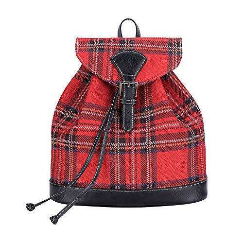Signare Gobelin-Modischer Rucksack für Damen mit rotem Royal Stewart Tartan (RUCK-RSTT)