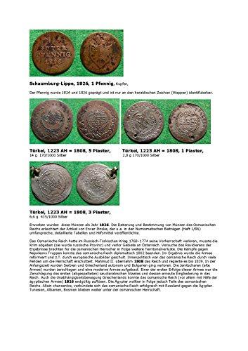 Kalenderblatt zum Jahr 1826: Zum Osmanischen Reich um 1826 (Ein guter Pfennig von Schaumburg-Lippe des Jahres 1826 sowie Münzen des Osmanischen Reiches der Zeit)