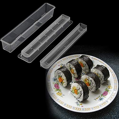 GFGHH Sushi Roll Rice Maker Mould Roller Mold DIY Non-Stick Easy Chef Kitchen