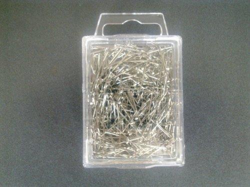 Paillettes argent - 18 mm-épingles 50gr. - 800Stück.