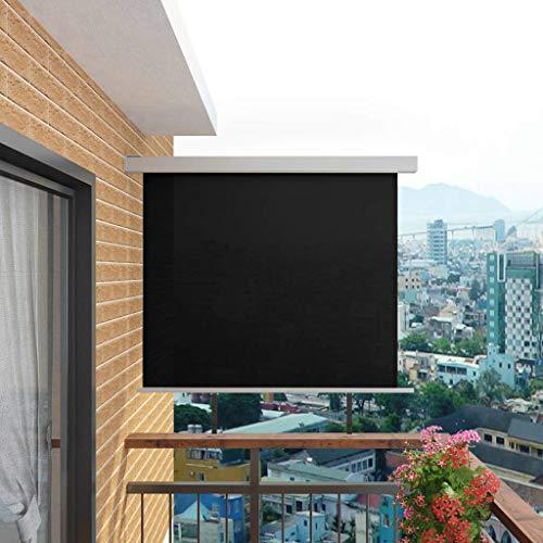SHUJUNKAIN Balkon-Seitenmarkise Multifunktional 150x200 cm SchwarzHeim Garten Rasen Garten Garten Balkon Sonnenschirme Sonnenschutze Farbe Schwarz