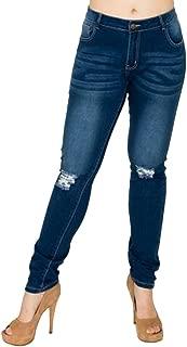 Gazoz Women's Skinny Stretch Denim Ripped Jeans