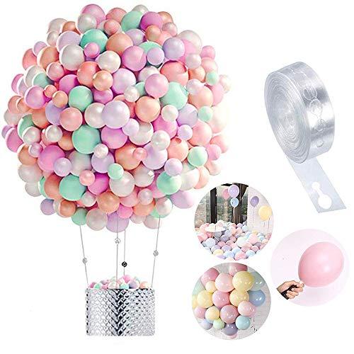 Globos Pastel 100-PACK, Macaron Pastel Color Latex Balloon para la Fiesta de cumpleaños Decoración Baby Shower Suministros Ceremonia de Boda Globo, Graduaciones, Fiestas (A)