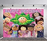 Cabbage Patch Backdrop for Kids Birthday Party Supplies Photography Grils Birthday Decoration for Kids Background Banner 5x7ft