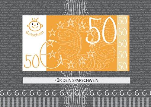 Het stijlvolle geldgeschenk - een blanco tegoedbon voor € 50: voor je spaarvarken (niet vergeten geld bij te legen) • mooie hoogwaardige wenskaart met envelop voor u gemaakt