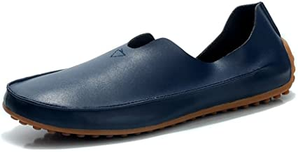 Classic Men And Women Driving Loafer Casual Wind Super Fiber Leather Large Size Breathable Boat Moccasins Men Shoes (Color : Blue, Size : 37 EU)