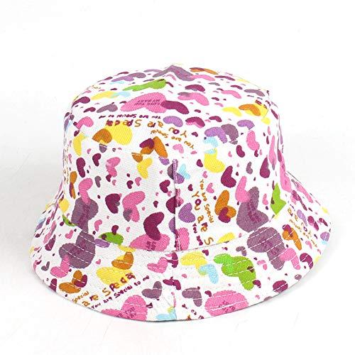 SOROPTLE Leuke sunhat print fruit bloem polka dot lach emmer hoed platte camouflage hoed roze rode pet plat