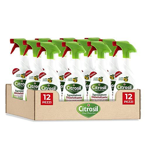 Citrosil Home Protection - Sgrassatore Disinfettante con Vere Essenze di Limone, 650 ml x 12 Confezioni