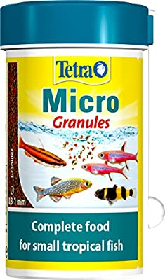 Tetra Fish Food Micro Granules, Complete Fish Food For Small Tropical Fish, 100 ml