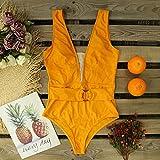 Señoras Traje Baño Bikini Nuevo Push Up Print Floral Swimwear Mujeres V-Neck Ruffle Traje De Baño De Una Pieza con Volantes Ropa De Playa Trajes De Ba