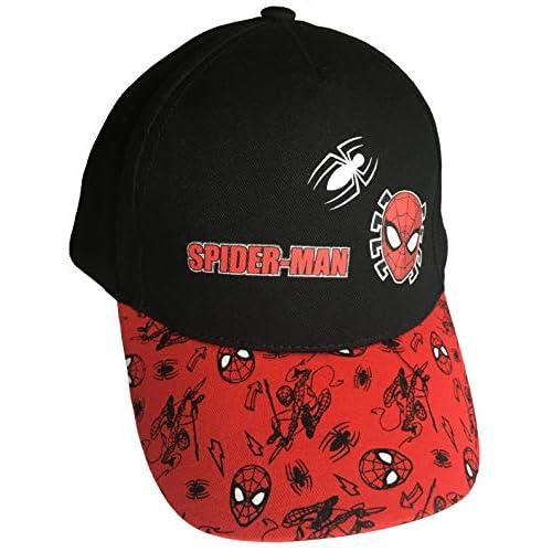 Cappello con visiera, motivo: Spiderman, colore: rosso/nero Variante 3 Large