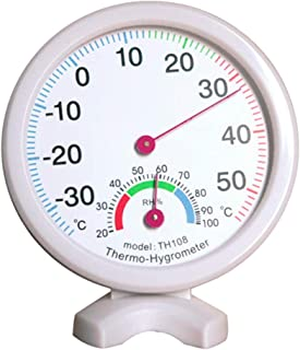 for Tang YI MING TL TH108 Mini Round Clock-Shaped Indoor Outdoor Hygrometer Humidity Thermometer Temperature Meter, Random Color Delivery Messgerät