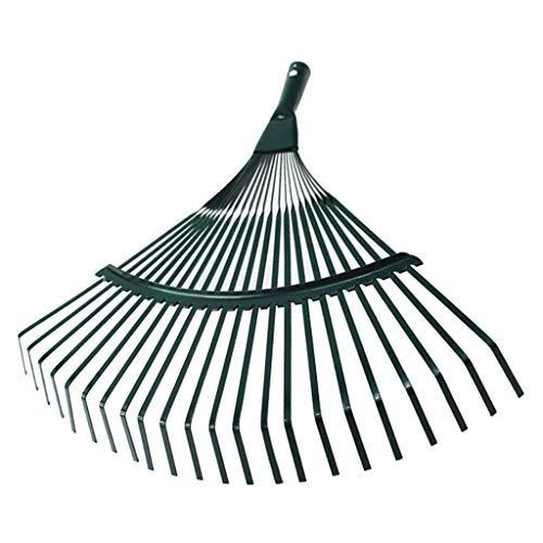 SGerste Tête de râteau 22 dents en acier robuste pour pelouse et feuilles de jardin