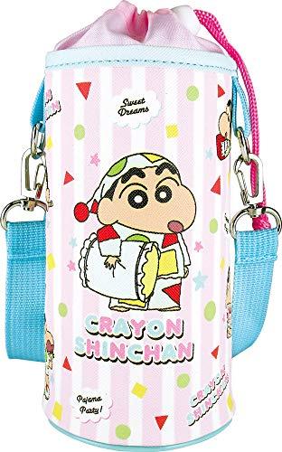 ティーズファクトリー クレヨンしんちゃん ペットボトルカバー ピンクパジャマ H16.5×Φ8.5cm KS-5535400PP