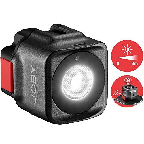 JOBY Beamo LED-Licht, Leuchte für Smartphones und spiegellose Kameras, kompakt, kabelloses Laden, Bluetooth, wasserdicht für Vlogs, YouTube & TikTok, Foto- und Videoaufnahmen