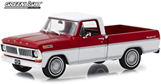 1970 Ford F-100 Ranger XLT Pickup Truck, Red and White - Greenlight 86318 - 1/43 Scale Diecast Model Toy Car
