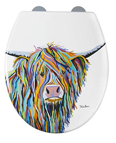 Croydex douchegordijn met Angus-McCoo-Art Angus McCoo, toiletbril wit