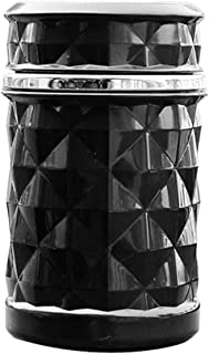 Tragbarer Auto Aschenbecher mit LED Licht Strass Zigarettenaufbewahrungs Getr/änkehalter Black Sguan-wu Aschenbecher f/ür die Reinigung von Zigarettenasche