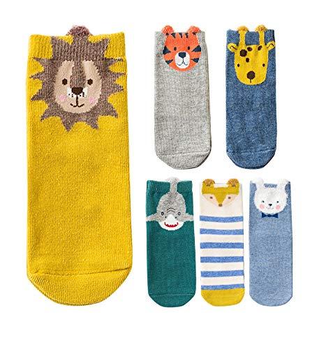 makkis 6 Paar Kindersocken, gekämmte Baumwolle, Socken Kinder Mädchen Jungen