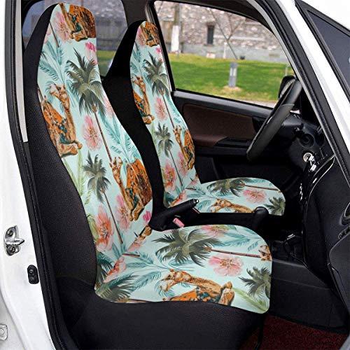 TUCBOA Front Seat Cover,Paseo En Camello con Cubierta De Asiento De Coche De Flores De Árboles, Fundas De Asiento De Coche Delanteras Personalizadas para Coche Camión,2pcs,50x135cm