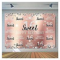 MIYU フォトブース装飾のための写真ハッピーバースデーテーマパーティーの背景の甘い背景には、プロップ用品 (Size : 150x100CM Polyester)