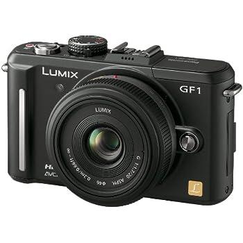 パナソニック ミラーレス一眼カメラ GF1 レンズキット(20mm/F1.7パンケーキレンズ付属) エスプリブラック DMC-GF1C-K