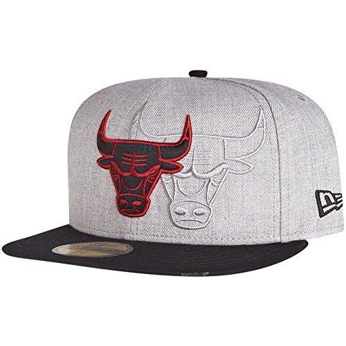 New Era 59Fifty Cap - SCREENING Chicago Bulls grau - 7 3/8