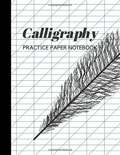 Calligraphy Practice Paper Notebook: Blank Hand Lettering Calligraphy Practice Book for Beginners - Large 8.5 x 11 - 100 Pages (Volumn 41)