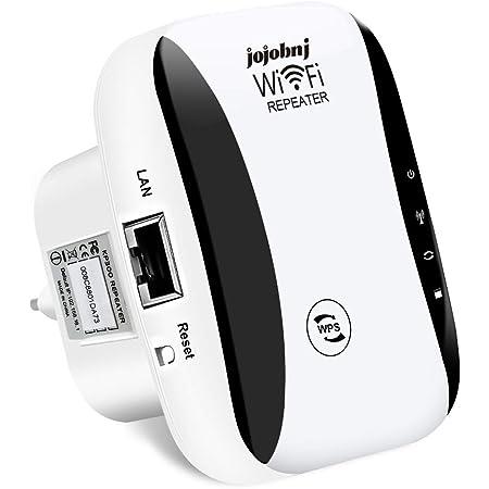 jojobnj Repetidor WiFi, 300Mbps Extensor WiFi, Amplificador de Señal de 300 Mbps,Admite Redes WLAN de 2,4 GHz,Fácil de Configurar, Compatible con ...