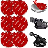 6 Pack 53mm(2.09inch) Adhesives for Suction Cup Replacement, AZXYI Windshield Mount Adhesive Replacement Kit, Compatible with Mounting Disk, GPS Dash Cam and Socket Car Dashboard Suction Cup Mount
