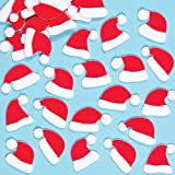 Baker Ross EF428 Santa Hat Felt Stickers - Pack of 100, Christmas Self Adhesives, Perfect for Children to Decorate During Festive Arts and Crafts for Kids