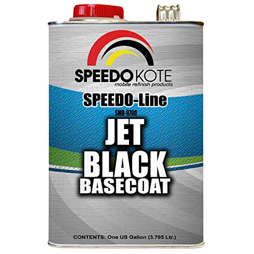 Speedokote Jet Black Automotive Basecoat, One Gallon SMR-9700