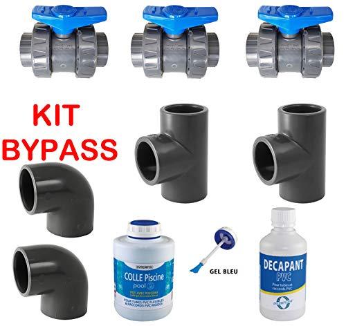 PVC Pression Kit Bypass 50mm Piscine pour créer Une dérivation du Circuit d'eau pour Une Pompe à...