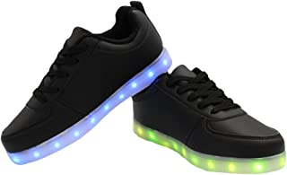 7 Colors Men & Women LED Shoes USB Charging Shoes Light up Shoes Colorful Glowing Shoes