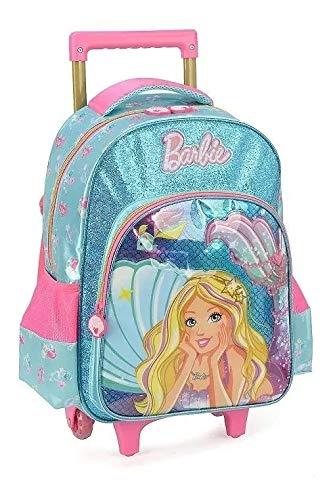 Mochila Infantil Escolar Barbie Sereia Original Rodinhas G