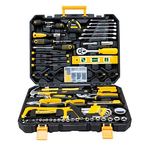 Rakon 198-Piece Tool Set General Household Hand Tool Kit with Plastic Tool Box Storage Case