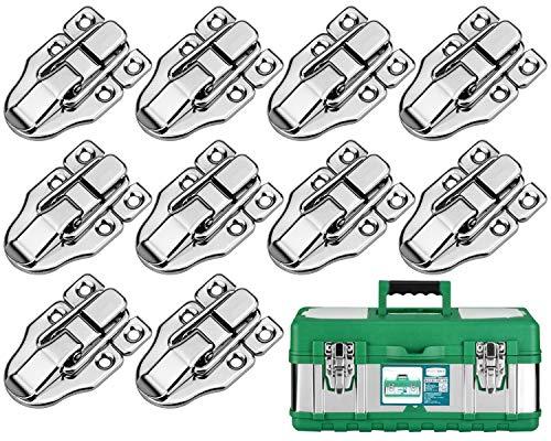 10 pezzi Toggle Latch Chiusura Chiusure a Leva Serratura per cassetta degli attrezzi cosmetici della cassetta degli attrezzi medici